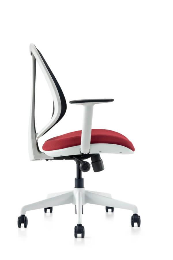 Silla de oficina Gerencial Job gris con rojo