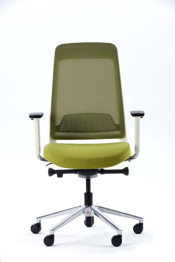 Silla de oficina Gerencial Fit blanco con verde