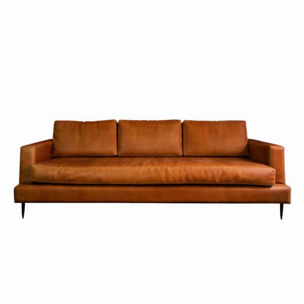 Sofa minimalista artesanal en cuero ebani tienda online de decoracion sin contexto