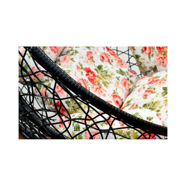 silla colgante nido en rattan plastico king