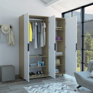 ARB 4776 Armario Kaia 2 (Rovere+Blanco) Ebani Colombia tienda online de decoración y mobiliario RTA