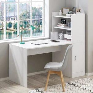 Escritorio para PC o estudio con biblioteca integrada ebani Colombia tienda online de decoracion y mobiliario