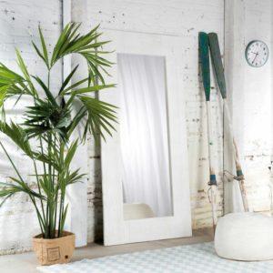 Espejo decorativo cuerpo entero con marco de madera ebani Colombia tienda online de decoracion y mobiliario
