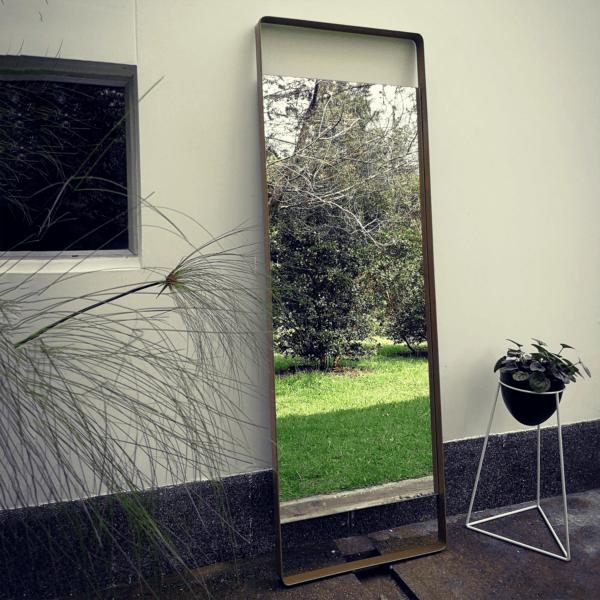 Espejo decorativo de cuerpo entero Mendoza Dorado
