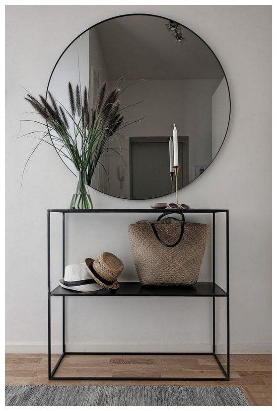 Recibidor, bife, consola huaraz minimalista en hierro color negro mecano ebani tienda online de decoracion 2