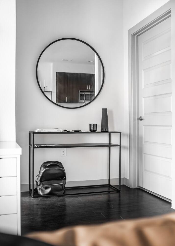 Recibidor, bife, consola huaraz minimalista en hierro color negro mecano ebani tienda online de decoracion