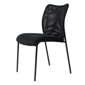 Silla interlocutora de Espera Napoles 2 Negra ebani tienda online de decoracion y mobiliario