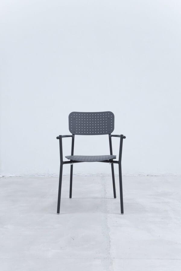 Silla auxiliar para comedor o escritorio minimalista whitebrand ebani tienda online de decoracion_silla_Gris oscuro