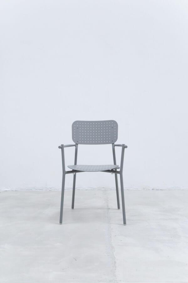Silla auxiliar para comedor o escritorio minimalista whitebrand ebani tienda online de decoracion_silla_V1810-D1 Gris claro 1