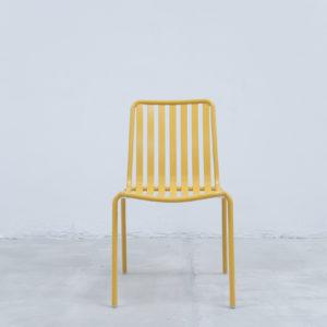Silla auxiliar para comedor o escritorio minimalista whitebrand ebani tienda online de decoracion_silla_V5213-DW Amarillo