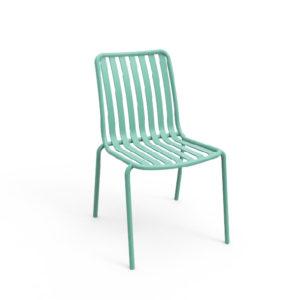 Silla auxiliar para comedor o escritorio minimalista whitebrand ebani tienda online de decoracion_silla_V5213-DW Turquesa