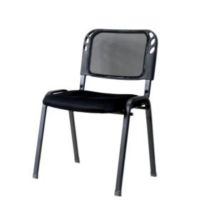 Silla interlocutora de Espera Malla Technimobili Negra ebani tienda online de decoracion y mobiliario
