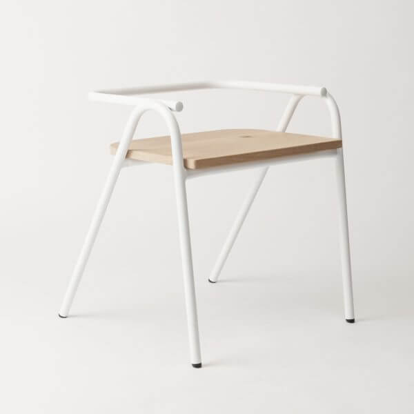 silla auxiliar Salta para comedor o escritorio en hierro color blanco mecano ebani tienda online de decoracion