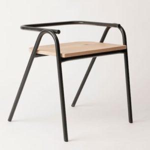 silla auxiliar Salta para comedor o escritorio en hierro color negro mecano ebani tienda online de decoracion