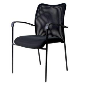 sln-3288 Silla interlocutora de Espera Nápoles 1 Negra ebani tienda online de decoracion y mobiliario