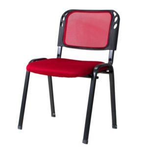 slr-3279 Silla interlocutora de Espera Malla Technimobili Rojo ebani tienda online de decoracion y mobiliario