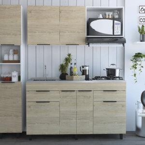 CBR 5527 Cocina 1.50 Laport - Blanco+RovereBl - Cerrada Ebani Colombia tienda online de decoración y mobiliario RTA