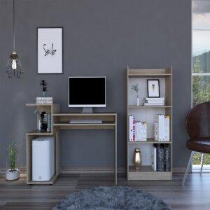 CLR 5734 - Combo Escritorio Atlanter + Biblioteca pequeña 120 (Rovere) Ebani Colombia tienda online de decoración y mobiliario RTA