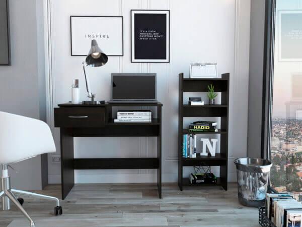 Combo Escritorio Moderno Para PC o Estudio office 11 (1c) wengue – 2 pce + Biblioteca vizcaya wengue Ebani Colombia tienda online de decoración y mobiliario RTA