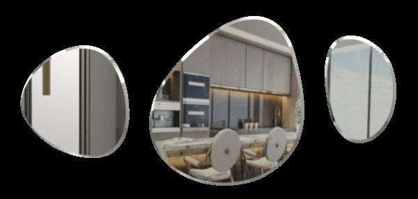 Espejo Decorativo Gotas x 3 Ebani Colombia tienda online de decoración y mobiliario Reflekta
