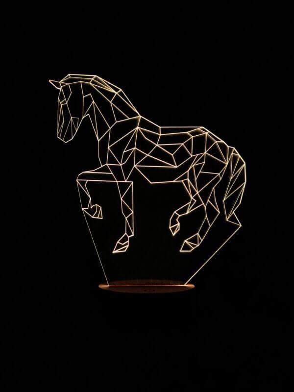 Lámpara LED Caballo Geométrico