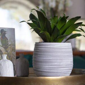 Matera de mesa en Cerámica Doris 16 cm Gris Ebani Colombia tienda online de decoración y mobiliario TUMATERA