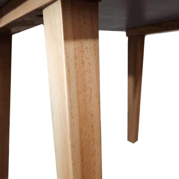 Mesa de noche o Nochero Minimalista Molti blanco con cajón en madera de pino