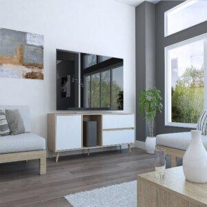 RRB3515 Rack para Tv Acacia(del campo)_Rovere Blanco Ebani Colombia tienda online de decoración y mobiliario Maderkit