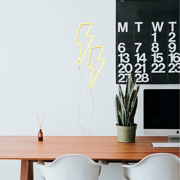 Aplique de pared rayo neón led 1 Ebani Colombia tienda online de decoración y mobiliario Lienxo