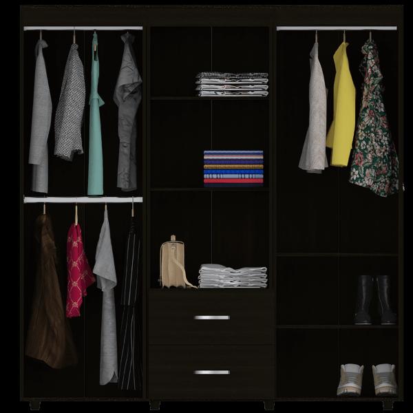 Closet Bariloche 3 Tubos wengue Ebani Colombia tienda online de decoración y mobiliario RTA