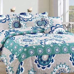 Colcha o Cubrelecho quilt mandalas doble faz Ebani Colombia tienda online de decoración y mobiliario My home store