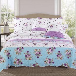 Colcha o Cubrelecho quilt rosas doble faz Ebani Colombia tienda online de decoración y mobiliario My home store
