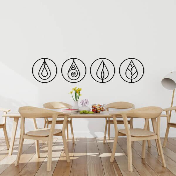 Cuadro Decorativo Cuatro Elementos en Círculo 1.0 Ebani Colombia tienda online de decoración y mobiliario Lansede