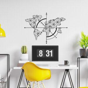 Cuadro Decorativo Mapa mundi 1.0 Ebani Colombia tienda online de decoración y mobiliario Lansede