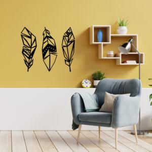 Cuadro Decorativo Tres Plumas 1.0 Ebani Colombia tienda online de decoración y mobiliario Lansede