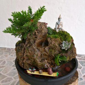 Mini jardinera Yin Yang