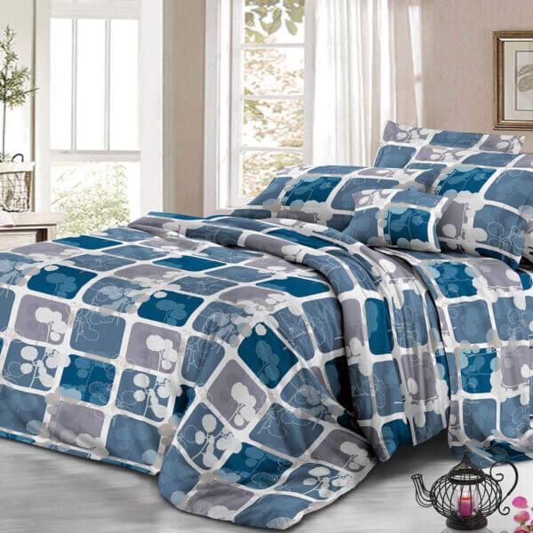 Juego de sábanas cuadros azules Ebani Colombia tienda online de decoración y mobiliario My home store