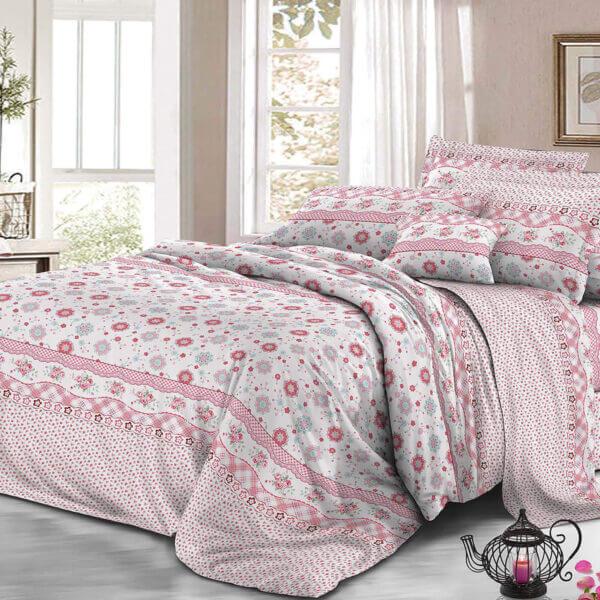 Juego de sábanas flores rosadas Ebani Colombia tienda online de decoración y mobiliario My home store