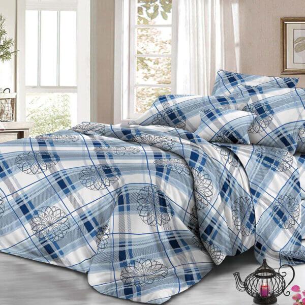 Juego de sábanas rombos azules Ebani Colombia tienda online de decoración y mobiliario My home store