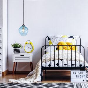 Lámpara colgante ball celeste Ebani Colombia tienda online de decoración y mobiliario Lienxo