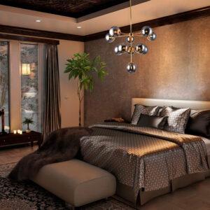 Lámpara colgante broadway humo dorado Ebani Colombia tienda online de decoración y mobiliario Lienxo