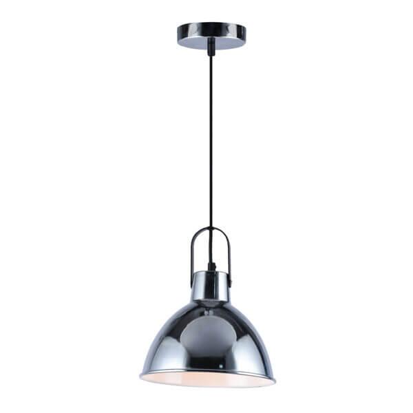 Lámpara colgante chicago negro cromado