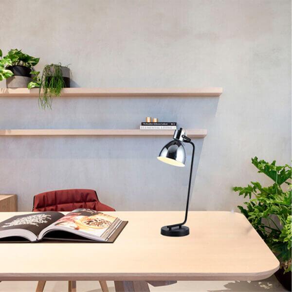 Lámpara de mesa chicago negro cromado Ebani Colombia tienda online de decoración y mobiliario Lienxo
