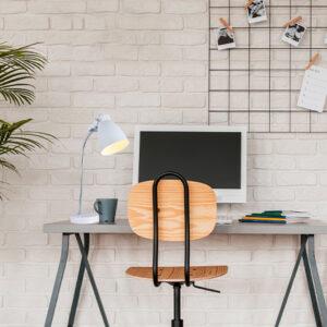 Lámpara de mesa foxy blanca Ebani Colombia tienda online de decoración y mobiliario Lienxo