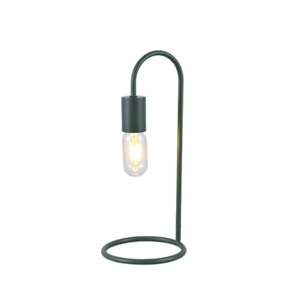 Lámpara de mesa praga verde militar