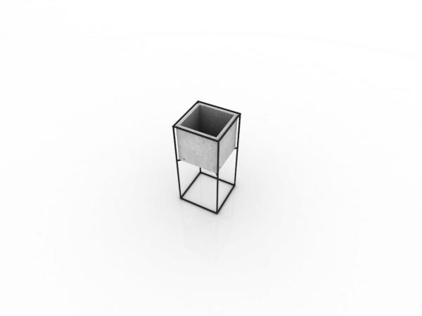 Matera de piso Kibo mediana en concreto + soporte metálico Ebani Colombia tienda online de decoración y mobiliario Ornamental
