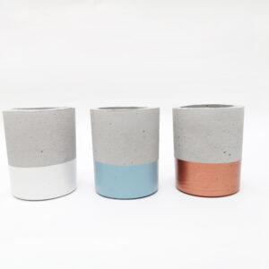 Mini matera en concreto Juliana (x3 unidades) Ebani Colombia tienda online de decoración y mobiliario Ornamental