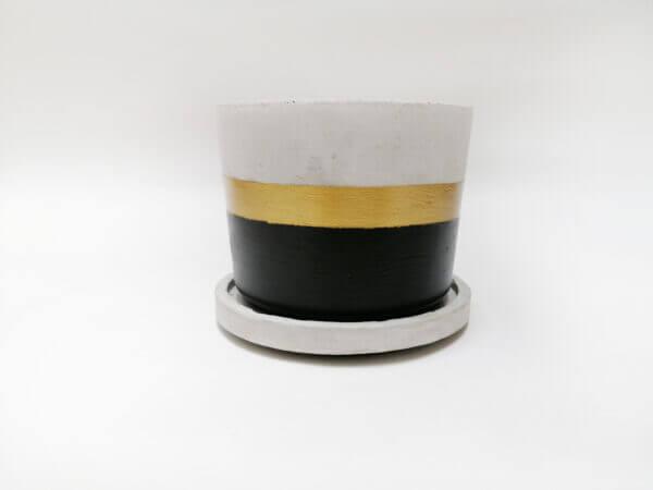 Mini matera en concreto Paula + base Ebani Colombia tienda online de decoración y mobiliario Ornamental