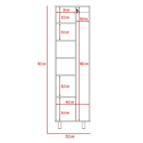 Mueble de Aseo Nala blanco Ebani Colombia tienda online de decoración y mobiliario RTA