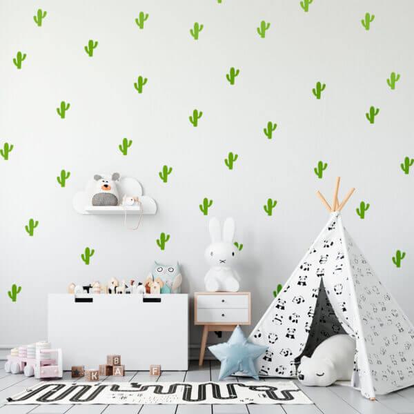 Vinilo Decorativo Patrón de Cactus